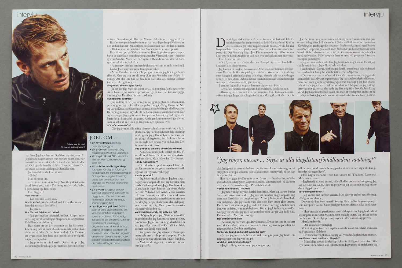 JOEL KINNAMAN - ELLE – STYLIST: NIKE FELLDIN